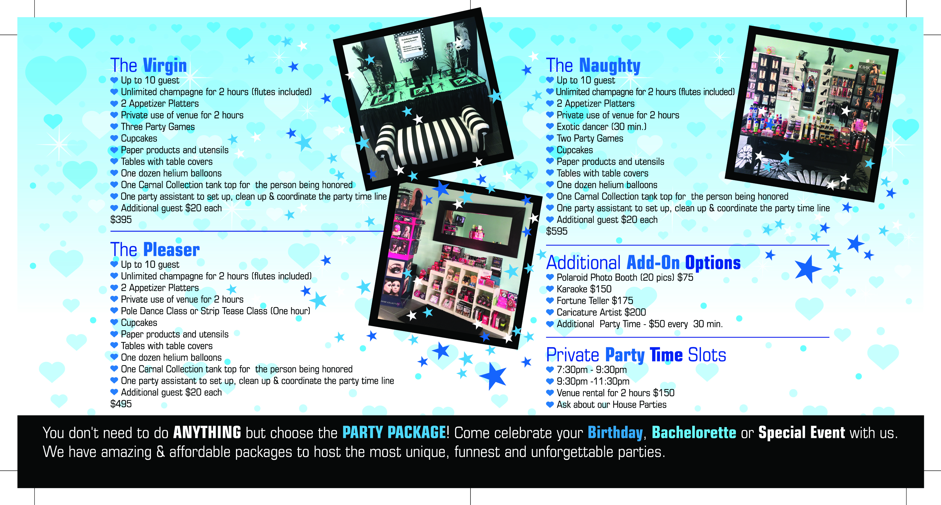 Carnal Party Flyer Package Interior PRINT